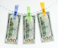 Washed dollars Royalty Free Stock Photos