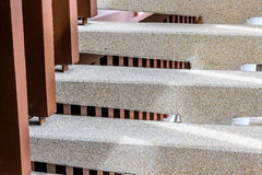 Washed gravel stone staircase step up ladder Royalty Free Stock Photography