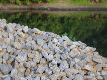 Washed gravel used at the construction site for the  of road transport interchanges in Moscow Stock Photos