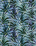 Washed palm pattern, faded colors Royalty Free Stock Photography