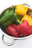 Washed peppers Royalty Free Stock Photos