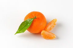 Washed tangerine with separated segments Royalty Free Stock Images