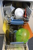 Washed. Dishes in the dishwasher Royalty Free Stock Photos