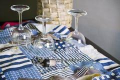 Washed Wine Glasses Stock Image