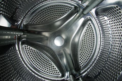 Washer. Interior of a washing machine drum Royalty Free Stock Photography