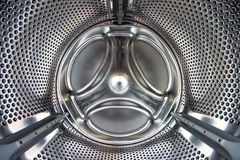 Washer. Inside of washer tromel / metal Royalty Free Stock Photo