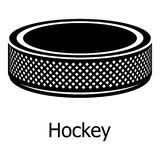 Washer hockey icon, simple black style. Washer hockey icon. Simple illustration of washer hockey vector icon for web Royalty Free Stock Photography