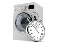 Washer with stopwatch. Isolated on white background royalty free illustration