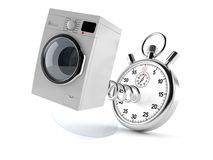 Washer with stopwatch. Washing machine with stopwatch isolated on white background royalty free illustration