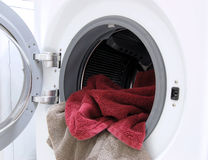 Washer with towels Stock Photography