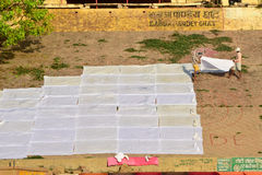 Washermen Варанаси Ghats стоковые фото
