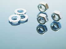 Washers and Nuts Royalty Free Stock Image