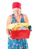 washerwoman royalty-vrije stock afbeeldingen