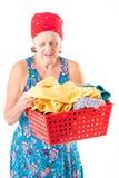 washerwoman stock foto's