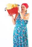 washerwoman royalty-vrije stock fotografie
