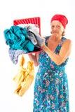 washerwoman Arkivfoton