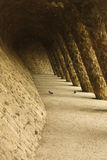 Washerwoman's Gate. Park Guell stock image