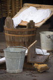 Washerwoman's instruments Royalty Free Stock Images