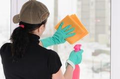 The washerwoman of windows Royalty Free Stock Photos