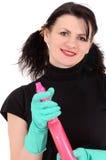 The washerwoman of windows Stock Photography