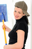 The washerwoman of windows Royalty Free Stock Images
