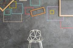 Washi磁带墙壁装饰 免版税库存图片