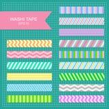Washi磁带小条 免版税库存照片
