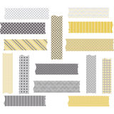 Washi Tape Graphics. WashiTape Clip Art.Scrapbook Element.Vector illustration Royalty Free Stock Photos