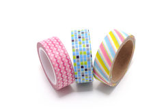 Washi Tape isolated on white background. Royalty Free Stock Photos