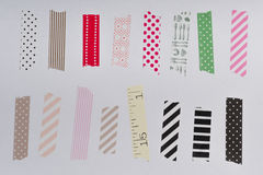 Washi tape, masking tape pieces isolated. Stock Images