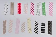 Washi tape, masking tape pieces isolated. Washi tape, masking tape pieces, Isolated, white background Stock Images