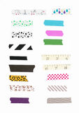 Washi tape, masking tape pieces isolated. stock image
