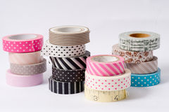 Washi tape roll, masking tape Stock Photos