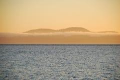 washigton för USA för öjuan san solnedgång Royaltyfri Foto