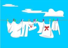 Washing against sky Royalty Free Stock Image