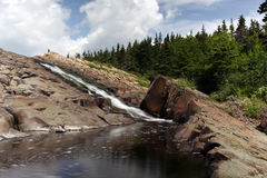 Washing Away. Scenic view of a waterfall at a Fishway in Colinet, Newfoundland Royalty Free Stock Photos