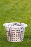 Washing basket on grass Stock Photography
