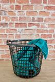 Washing Basket. A studio photo of a washing basket Royalty Free Stock Image