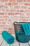 Washing Basket. A studio photo of a washing basket Stock Images