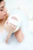 Washing in bath royalty free stock photos