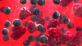 washing berries, slow motion video stock video footage