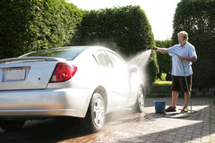 Washing car Stock Photography