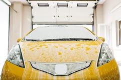 Washing car stock image