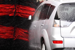 Washing the car Royalty Free Stock Photography