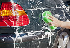 Washing car Stock Images