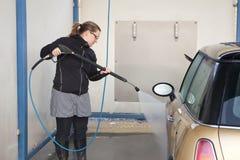 Washing the car Royalty Free Stock Photos