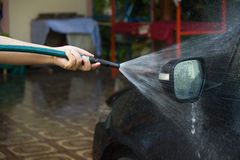 Washing the car Royalty Free Stock Image
