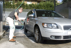 Washing the car Royalty Free Stock Images