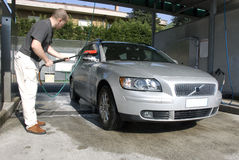 Washing the car Royalty Free Stock Photo