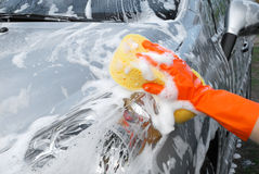 Washing a car Royalty Free Stock Images